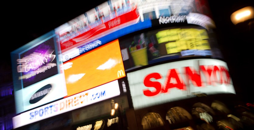Letreros de Piccadilly Circus, Londres, Reino Unido