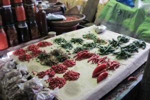 Pimientos en el mercado de Maputo, Mozambique