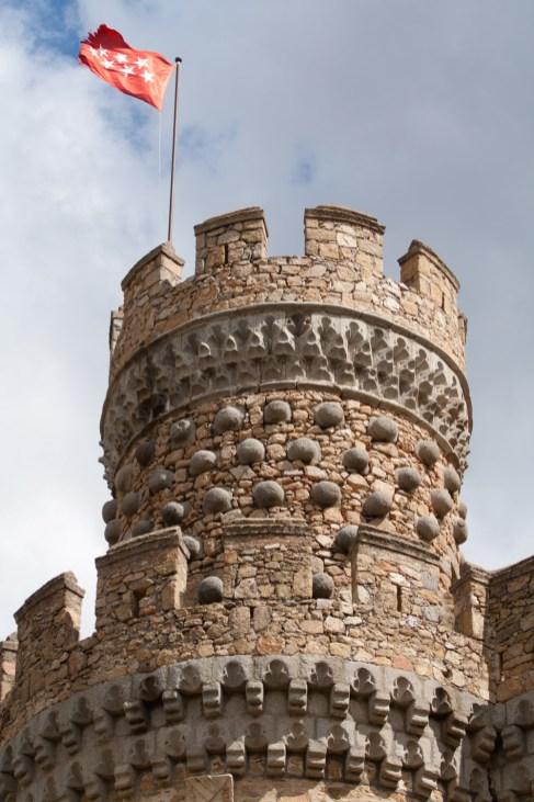 Torre del castillo de Manzanares el Real, Comunidad de Madrid, España