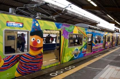 Tren a Universal Studios en Osaka, Japón