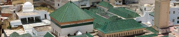 Techo del Mauseoleo de Moulay Idriss, en la ciudad que lleva su nombre en Marruecos
