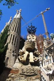 El Templo Expiatorio de la Sagrada Familia, Barcelona, España