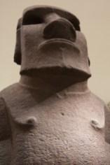 Un moai en el British Museum de Londres, Reino Unido