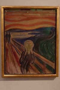 Una de las versiones de El Grito, en el Museo Munch, en Oslo, Noruega