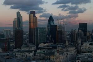 Skyline de la London City, Londres, Inglaterra