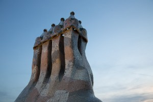 Chimeneas de la Casa Batlló, Barcelona, España