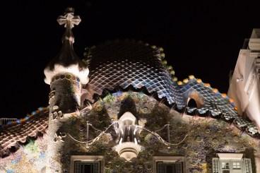 Bóveda de la fachada de la Casa Batlló, Barcelona, España