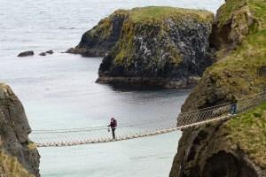 El puente colgante de Carrick-a-Rede, Irlanda del Norte
