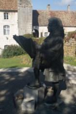 Estatua de Vauban en la ciudadela de Besanzón, Francia