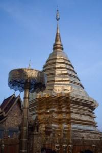 Chedi del templo Wat Phra Doi Suthep, Chiang Mai, Tailandia