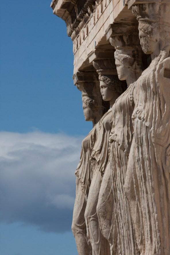 Cariátides del Erecteón, Acropólis de Atenas, Grecia