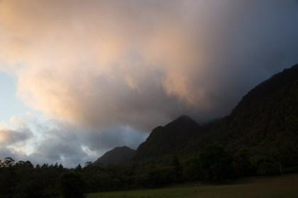Atardecer con el Cerro El Gaital de fondo, El Valle de Antón, Panamá