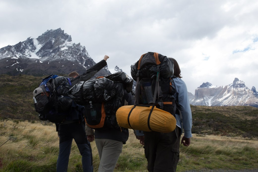 Partiendo del refugio Paine Grande, Chile