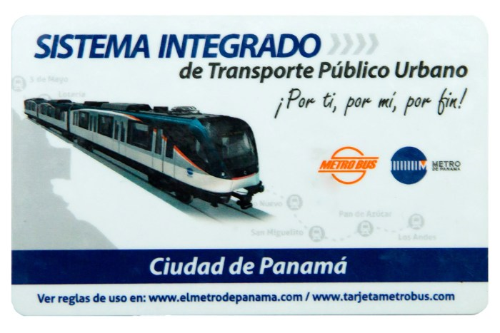 Tarjeta del Metro de Panamá