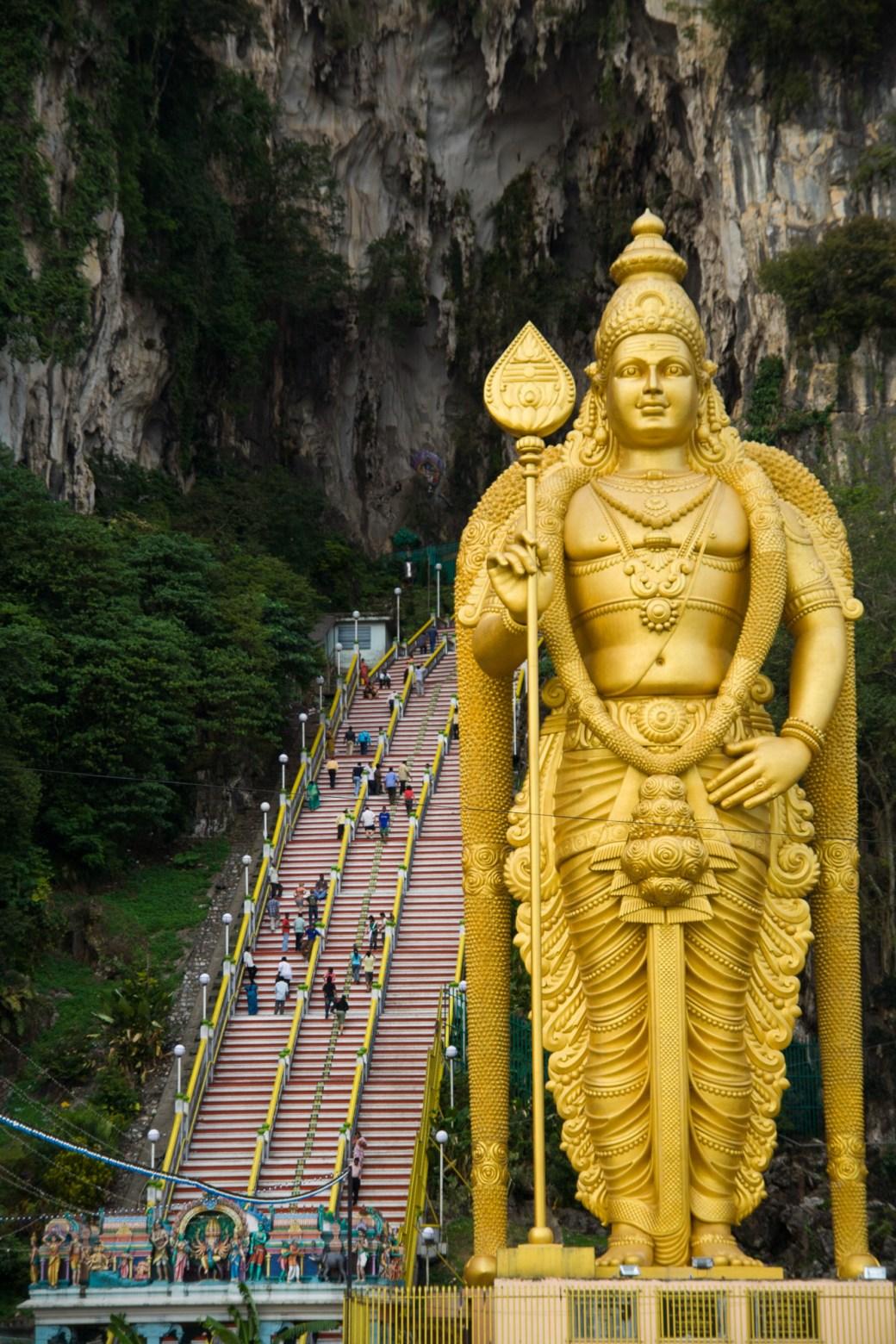 Estatua al dios Murugan