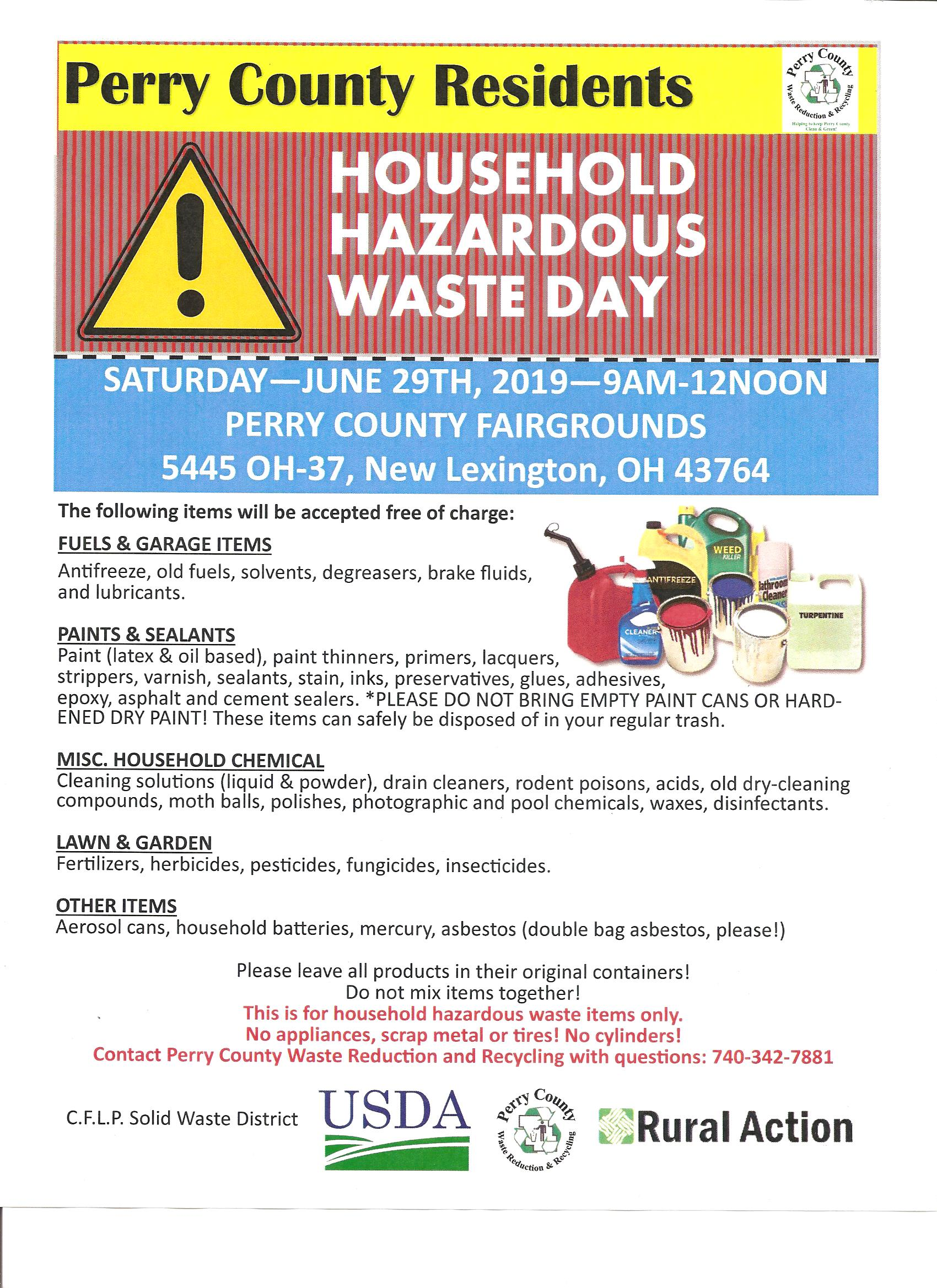 Perry County Household Hazardous Waste Day