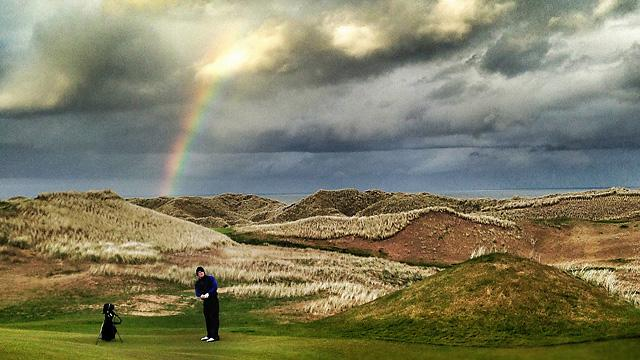 A postcard moment at the relentless Trump International Golf Links. Photo by Matt Ginella