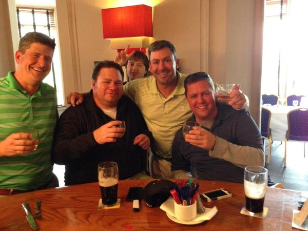 Clients in Ireland enjoying pint