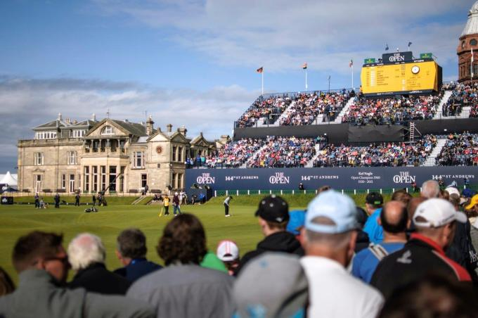 PerryGolf guests on our 2015 Open Championship Golf Cruise enjoyed Sunday attendance to The Open at St Andrews