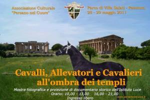 """Paestum, 28 e 29 maggio 2011: mostra fotografica """"Cavalli, Allevatori e Cavalieri all'ombra dei templi""""."""