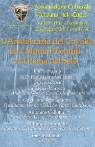 26 giugno 2011: importante convegno nella storica Villa Farina a Baronissi