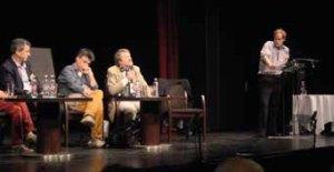 von links nach rechts: Attila Ertsey, Markus Osterrieder, Terry Boardman, Richard Ramsbotham