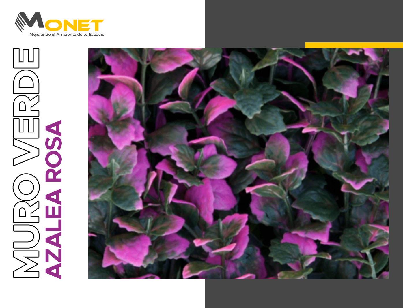 Muro Verde Sintético Modelo Azalea Rosa
