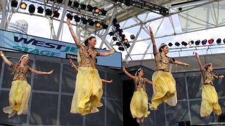رقصهای ایرانی باله ملّی پارس در جشنواره نوروزی تیرگان 1