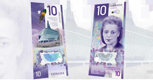 اسکناس ۱۰ دلاری کانادا به عنوان بهترین اسکناس دنیا شناخته شد 1