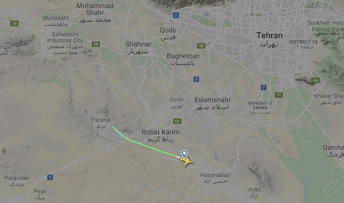 سقوط هواپیمای اوکراین در تهران