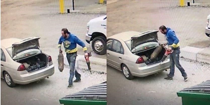 سرقت منبع اگزوز اتومبیل