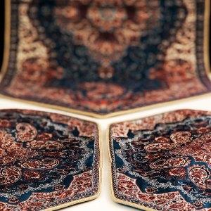 Hexagonal blue reception table cover