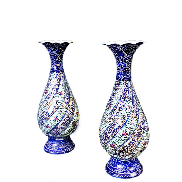 pair of enamel vases