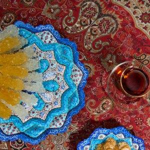 hand painted enamel plate