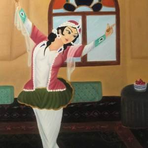 dancing woman painting