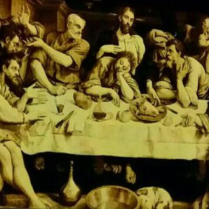 last supper pictorial carpet