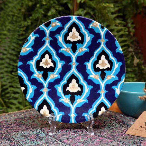 Decorative pottery plate