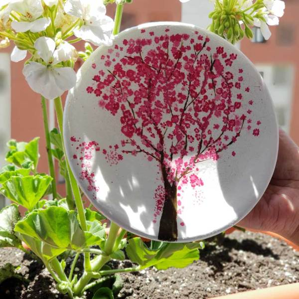 pottery plate pink