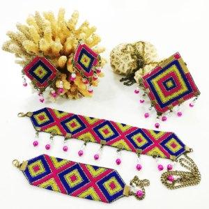 Needle work jewelry