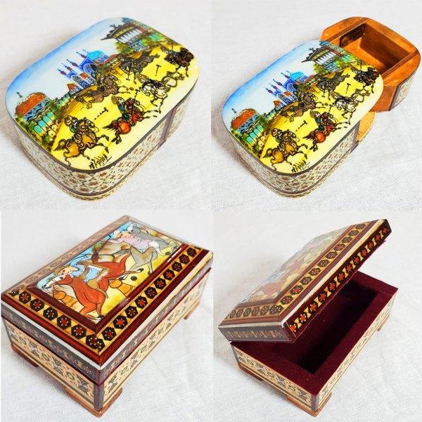 Khatam jewelry box