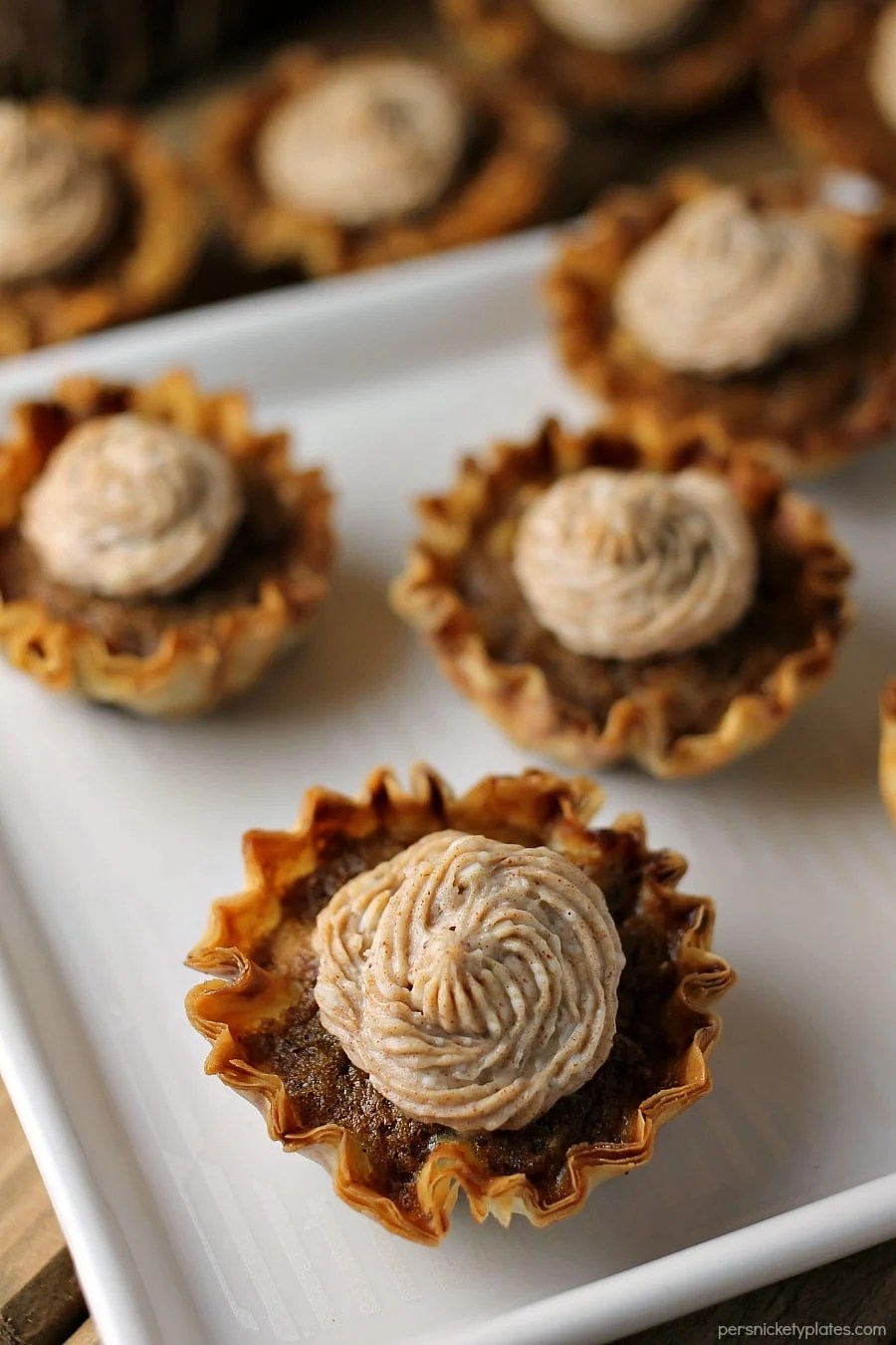 bite size sweet potato pies with cream cheese frosting