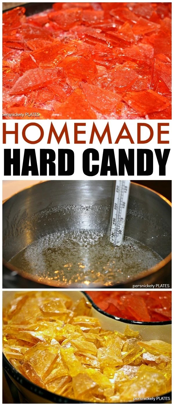 Homemade Hard Candy is easy to make and really easy to customize to whatever flavor and color you want!