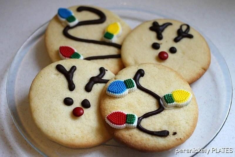 Reindeer Sugar Cookies | Persnickety Plates
