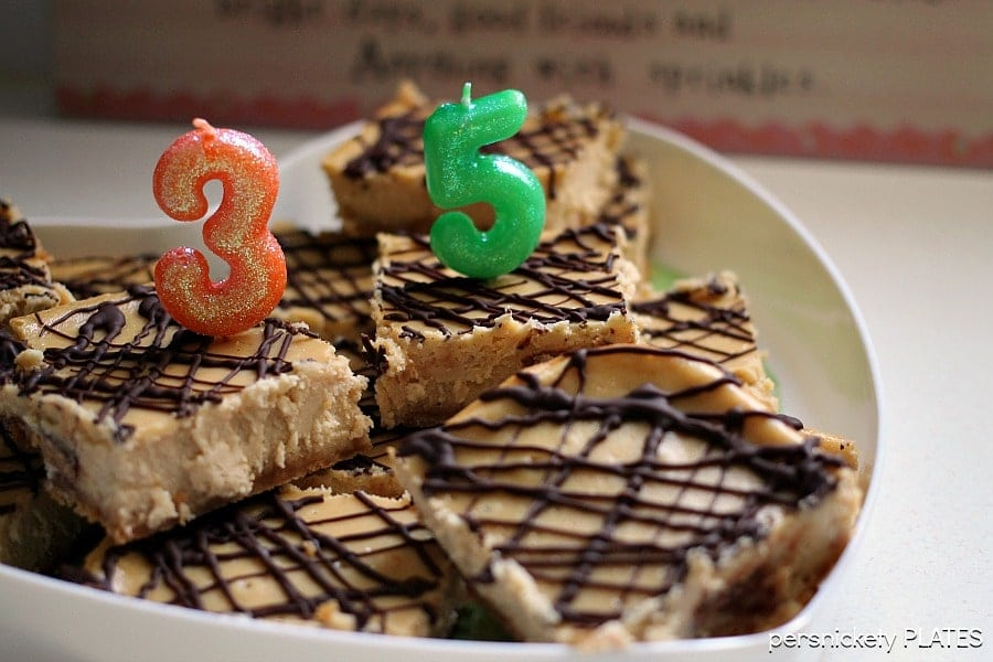 Reese's Peanut Butter Cup Cheesecake Bars   Persnickety Plates
