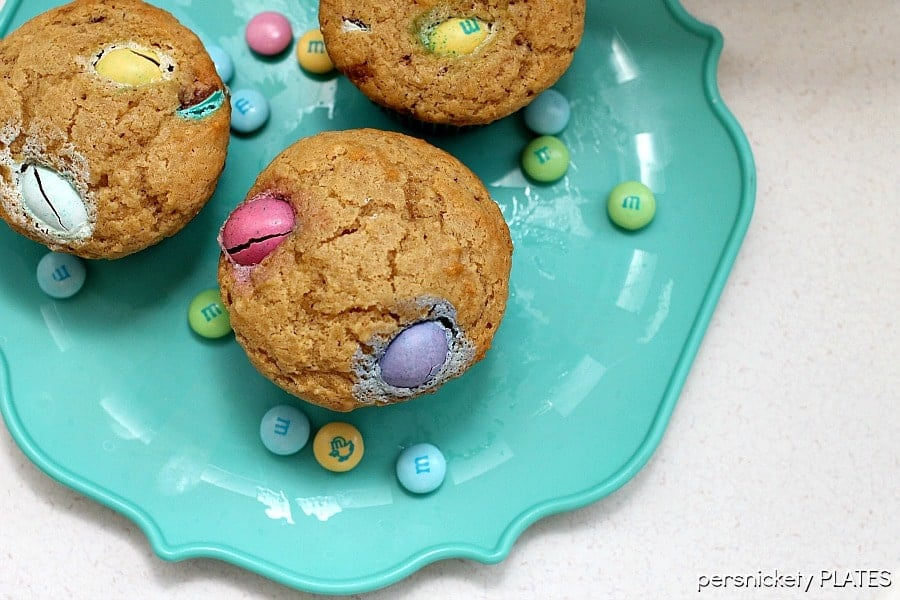Peanut Butter M&M Muffins   Persnickety Plates