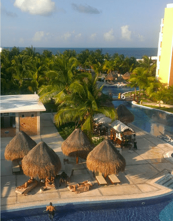 resort view from window