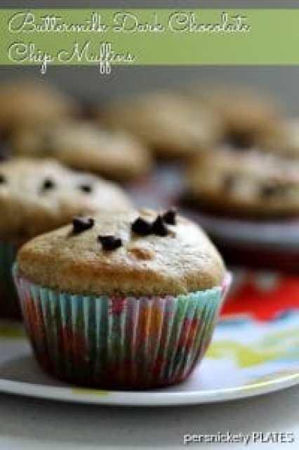 Persnickety Plates: Buttermilk Dark Chocolate Chip Muffins