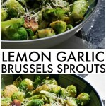 Lemon Garlic Brussels Sprouts - If you've never tried Brussels Sprouts, or think you don't like them, give this recipe a try - the lemon garlic makes them so tasty!   www.persnicketyplates.com