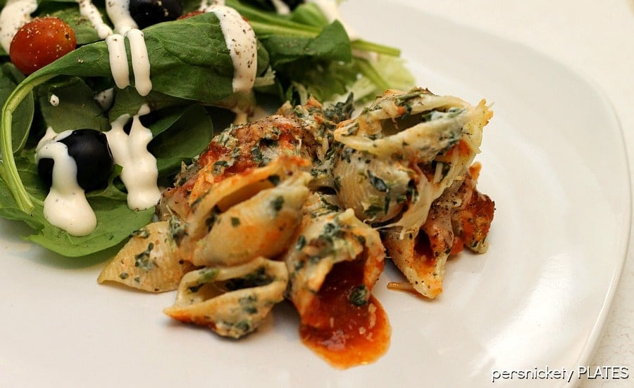 Spinach Unstuffed Shells   Persnickety Plates