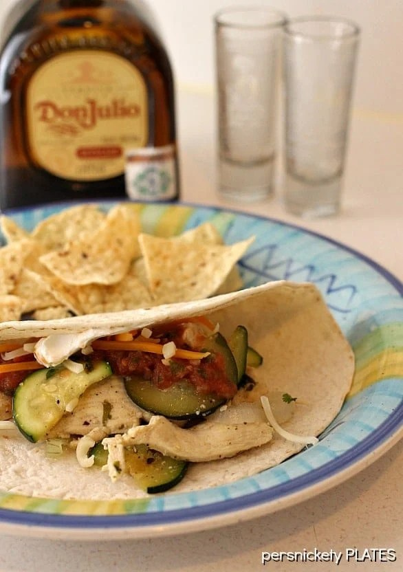 Tequila Lime Chicken Fajitas   Persnickety Plates